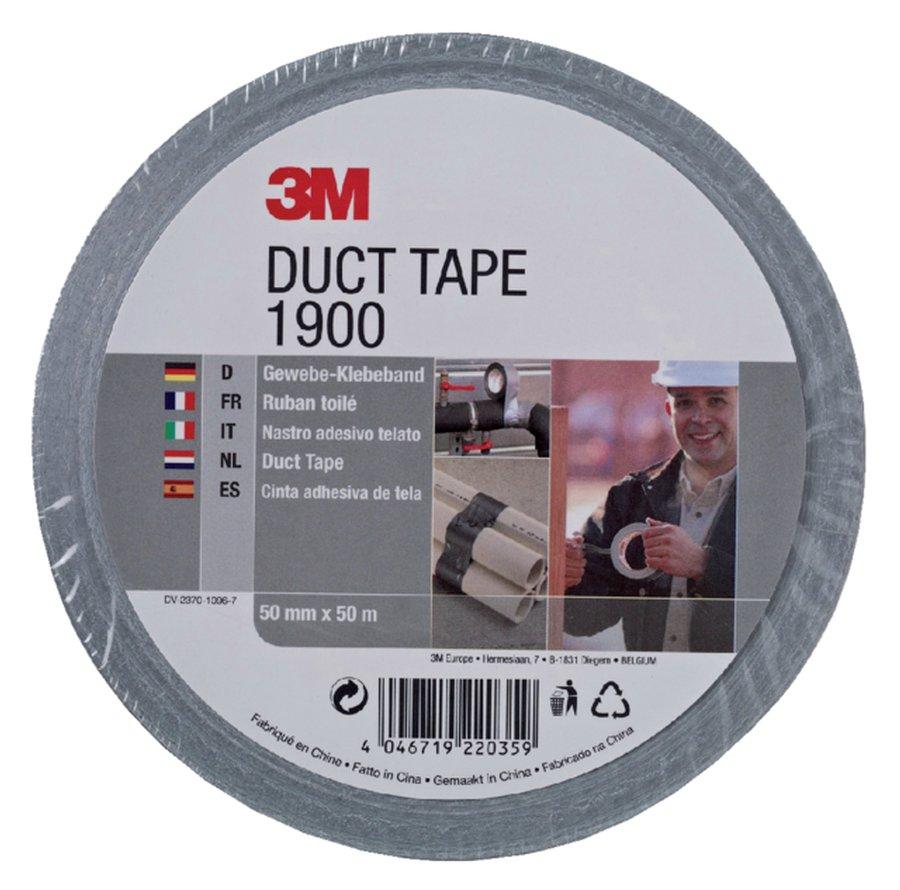 3M Duct Tape  - Grijs 50mm x 50 mtr
