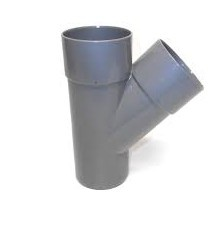 T-Stuk 45° PVC Hemelwaterafvoer