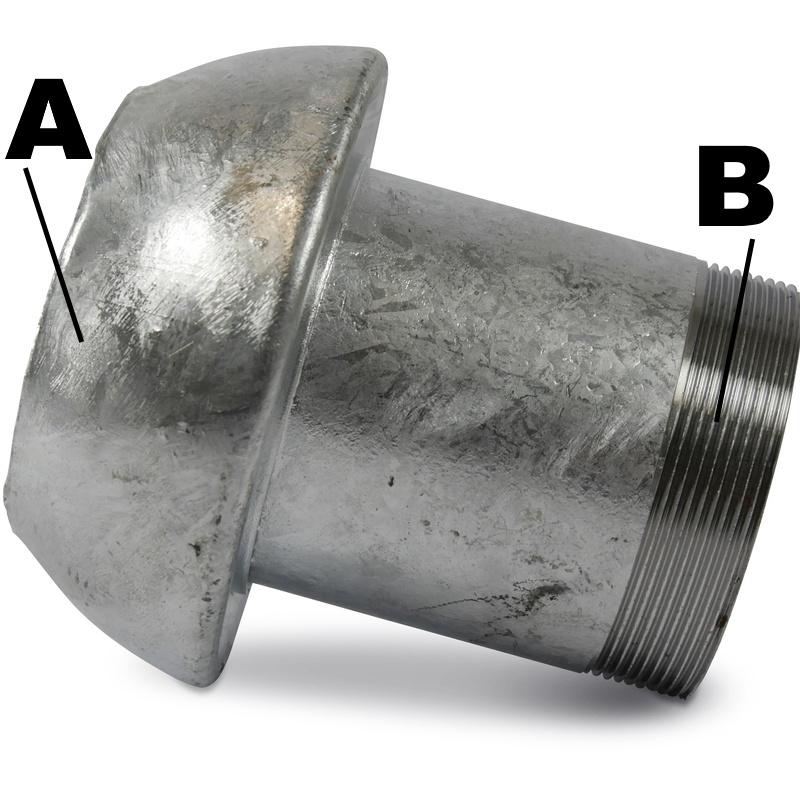 Perrot Koppeling V-deel Buitendraad
