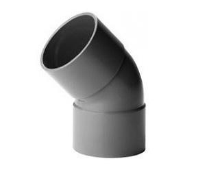 Bocht 45° Afvoer PVC Lijm